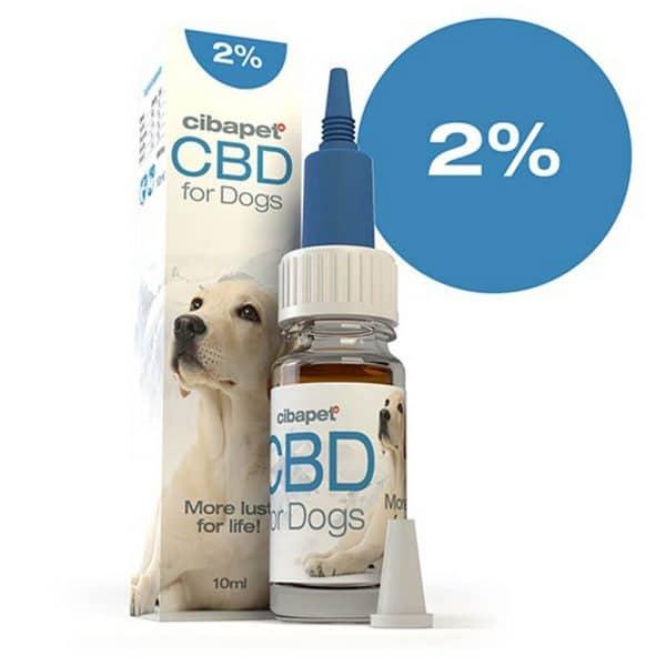 2% dieren Cibapet CBDenzo Hond 2% cbd olie flesje pipet 10ml