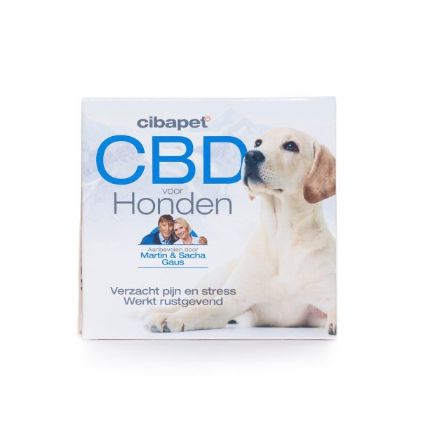 CBD tabletten Hond 3,2 MG, 55st CBDenzo-Cibapet CBD-Snoepje Hond 55pastilles-176mg aanbevolen door Martin Gaus Sasha Gaus verzacht pijn en stress rustgevend
