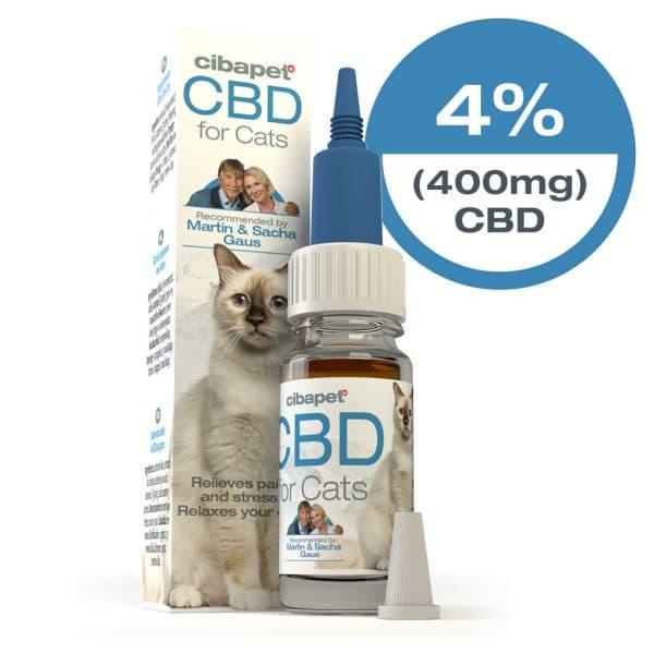 CBDenzo 4% 10ml Cibapet katten geeft rust verzacht pijn Martin en Sacha Gaus