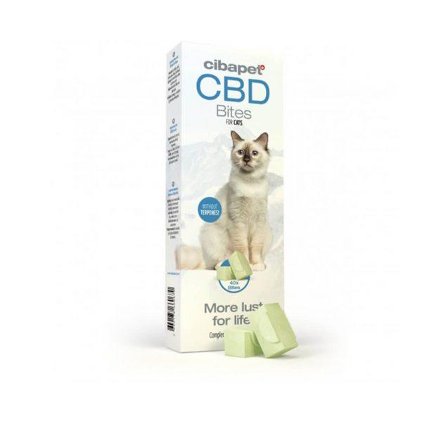 CBDenzo CBD Snacks 1,4mg CibaPet 40st schapenvet zalmolie olijfolie spirulinapoeder kat poes snoepje snack