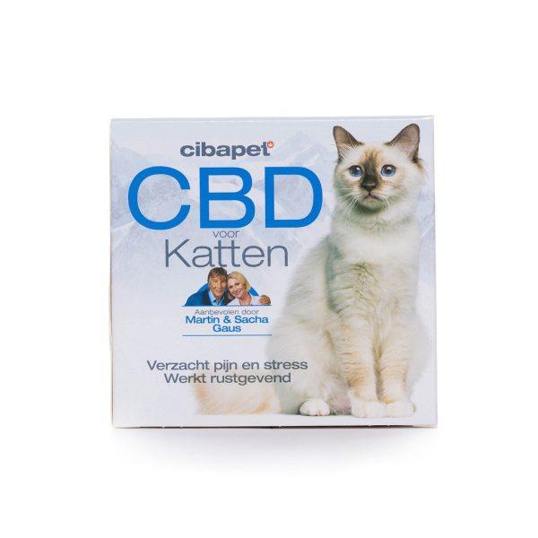 CBDenzo CBD-Snoepje Kat 1,3mg verzacht pijn en stress 100pastilles CBD Cibapet kattensnoepjes snoepje tablet doosje