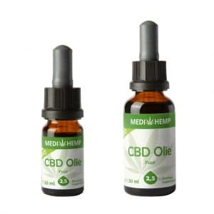 cbdolie CBD Olie Puur CBDenzo 2,5% 10ml glazenflesje pipet CBD Olie