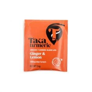 Thee; Ginger & Lemon verpakt theezakje ginger en lemon cbdenzo taka turmeri kurkuma