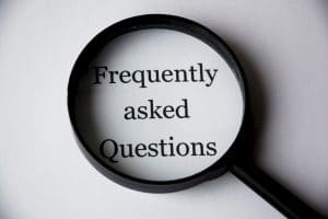Loep met tekst Frequently asked questions