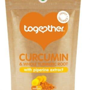 30 capsules bruine zak CBDenzo Together Health Curcumin Kurkuma