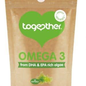 30 softgels bruine zak Cbdenzo Together Healt Algen Omega 3