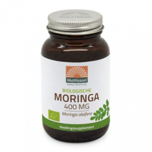 Glazen bruine pot Mattisson Moringa 400 mg biologisch 60 vcaps